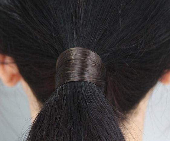 BROWN FAUX HAIR ELASTIC BAND  ab729d5a109